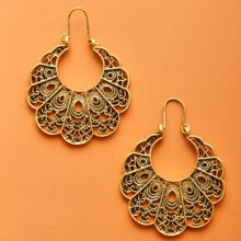 Hollow Out Floral Shaped Earrings