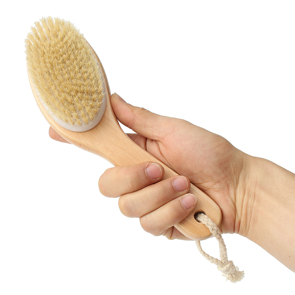 Natural Bristle Full Body Bath Brush Detox Fight Cellulite Tool