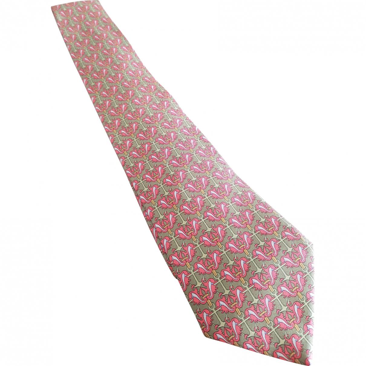 Hermès \N Green Silk Ties for Men \N