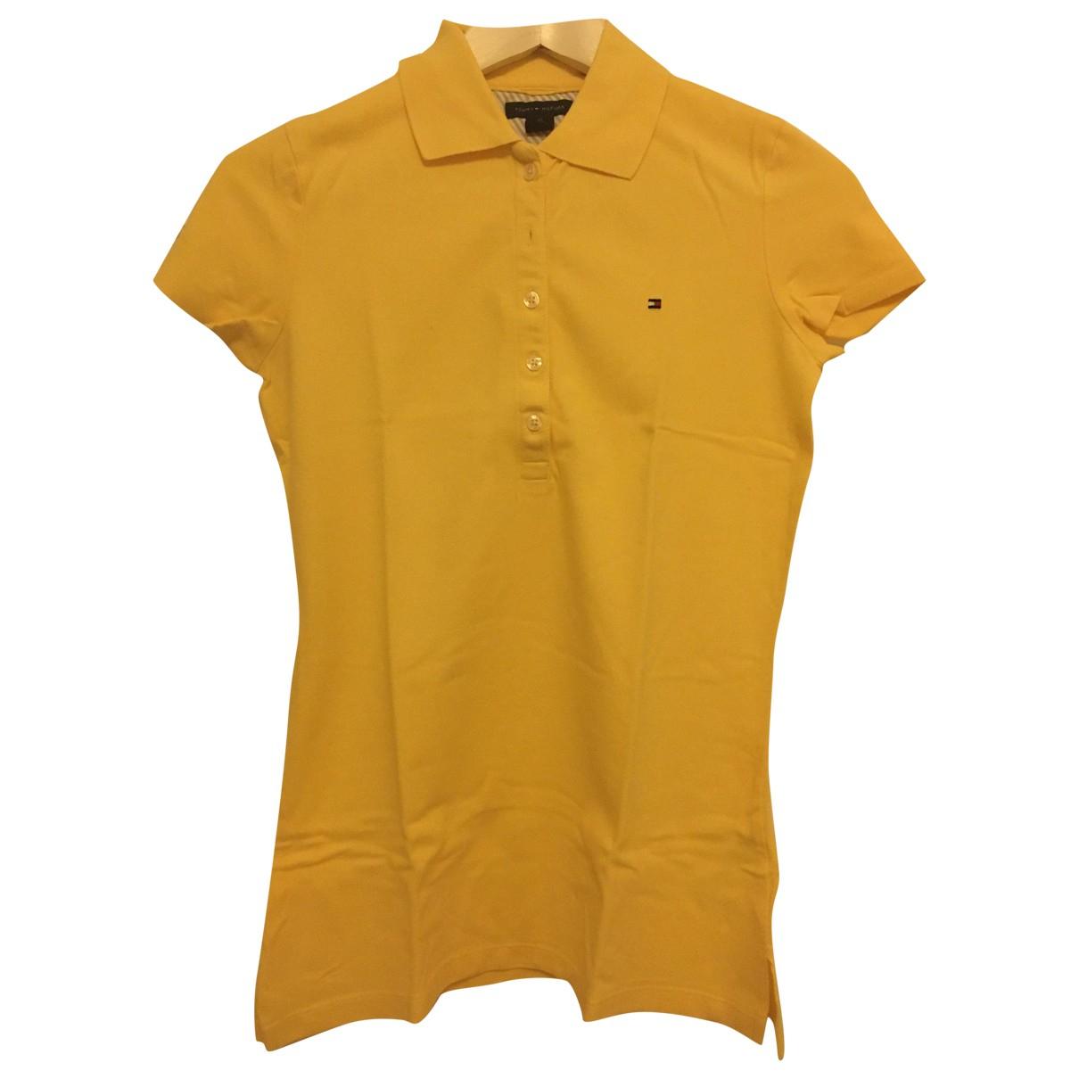 Tommy Hilfiger - Top   pour femme en coton - jaune