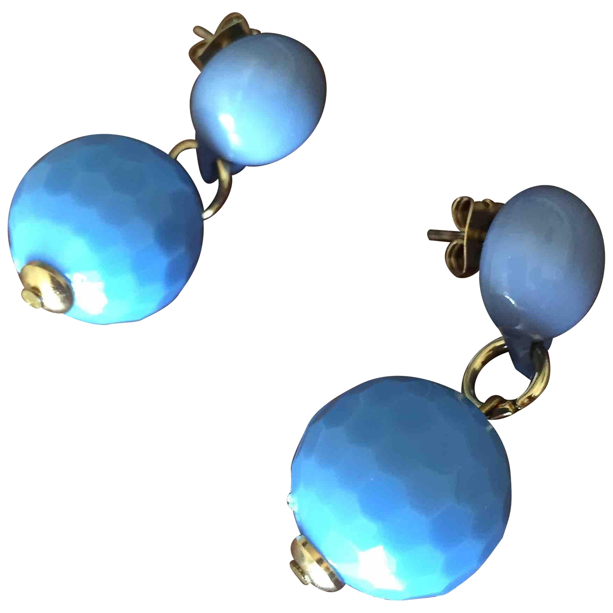 Non Signé / Unsigned \N Blue Earrings for Women \N