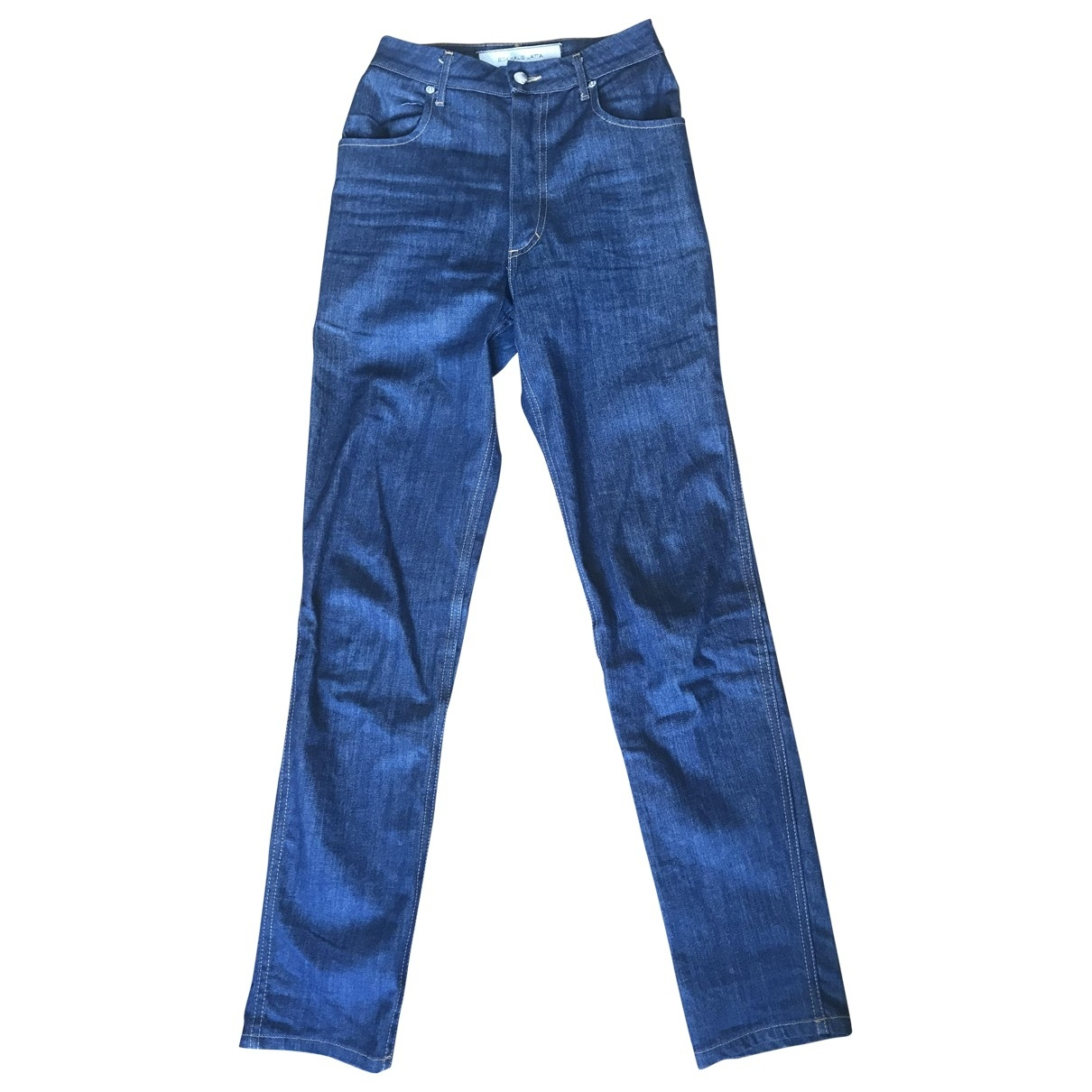 Eckhaus Latta \N Blue Denim - Jeans Jeans for Women 25 US
