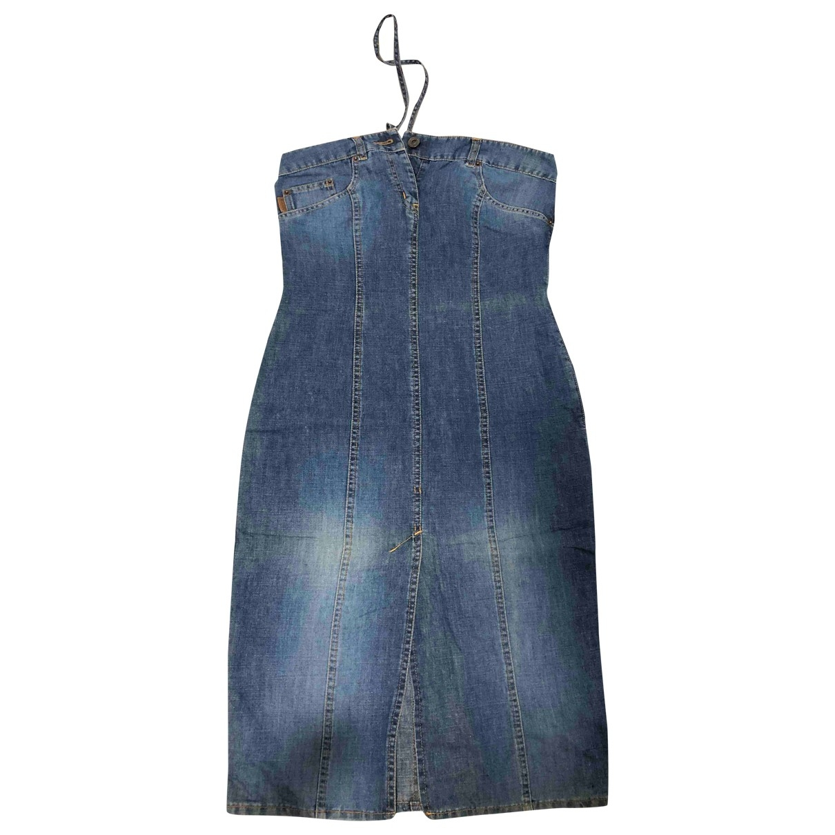 Moschino Cheap And Chic \N Kleid in  Blau Denim - Jeans