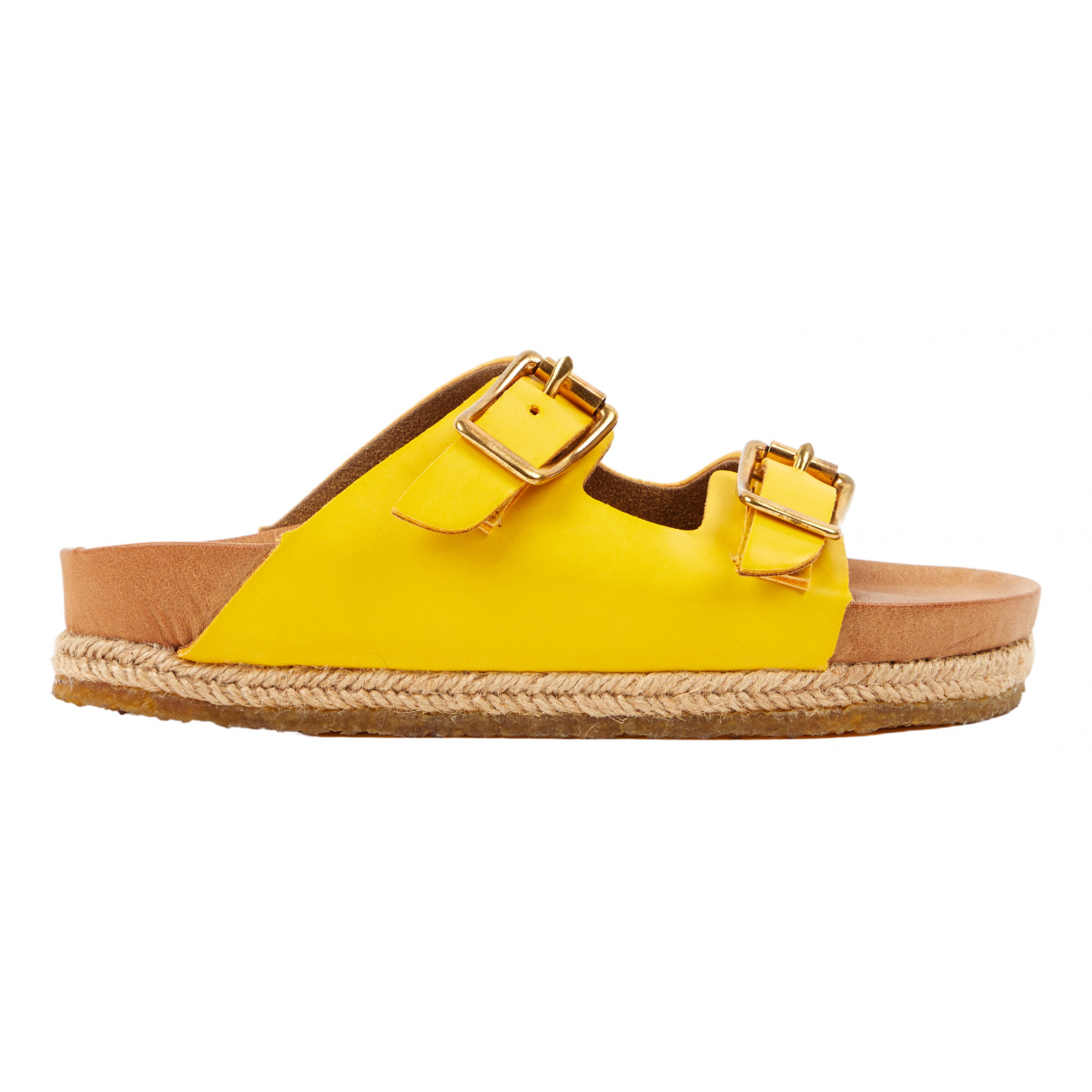 Yuketen \N Yellow Leather Sandals for Women 36 EU