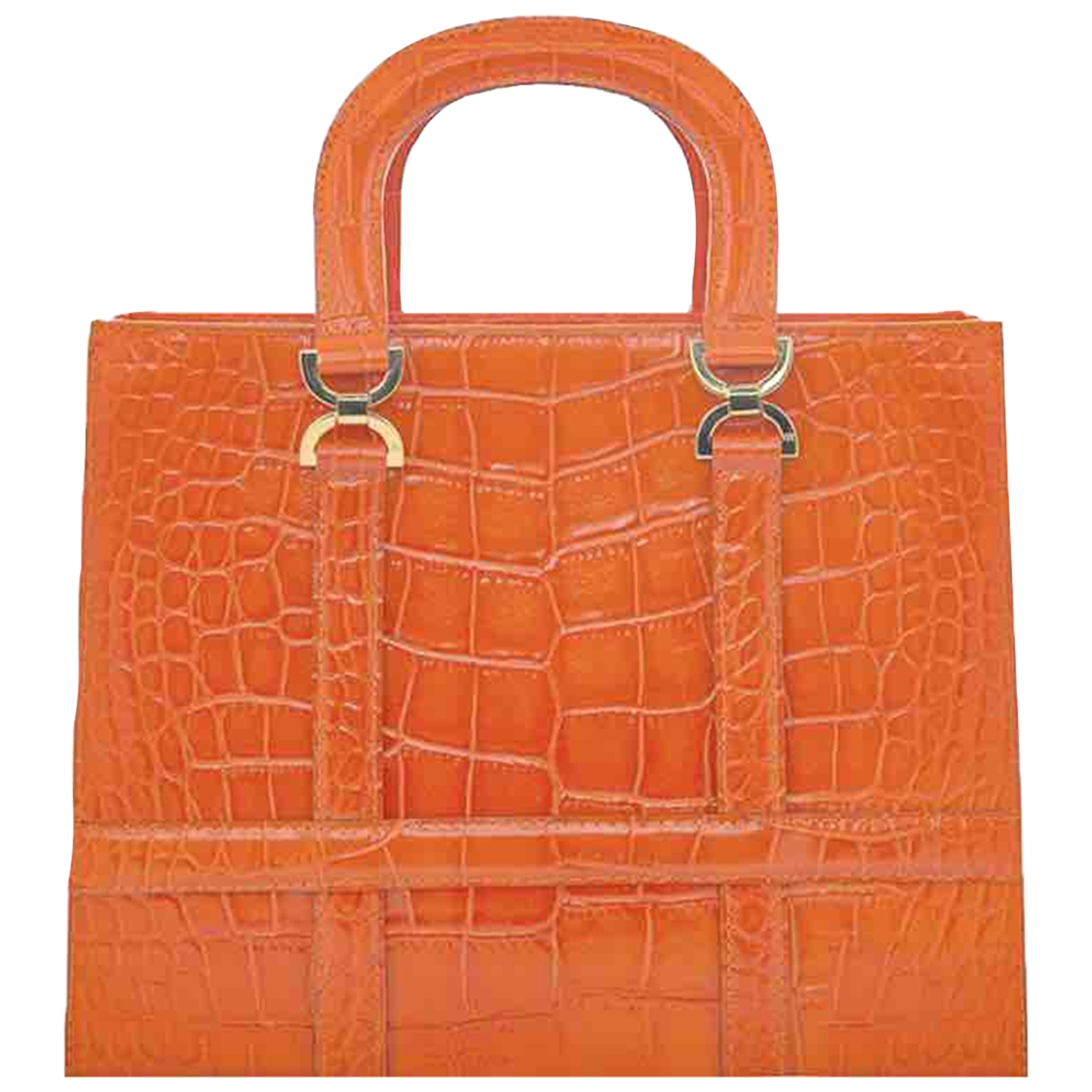 Georges - Sac a main   pour femme en cuir - orange