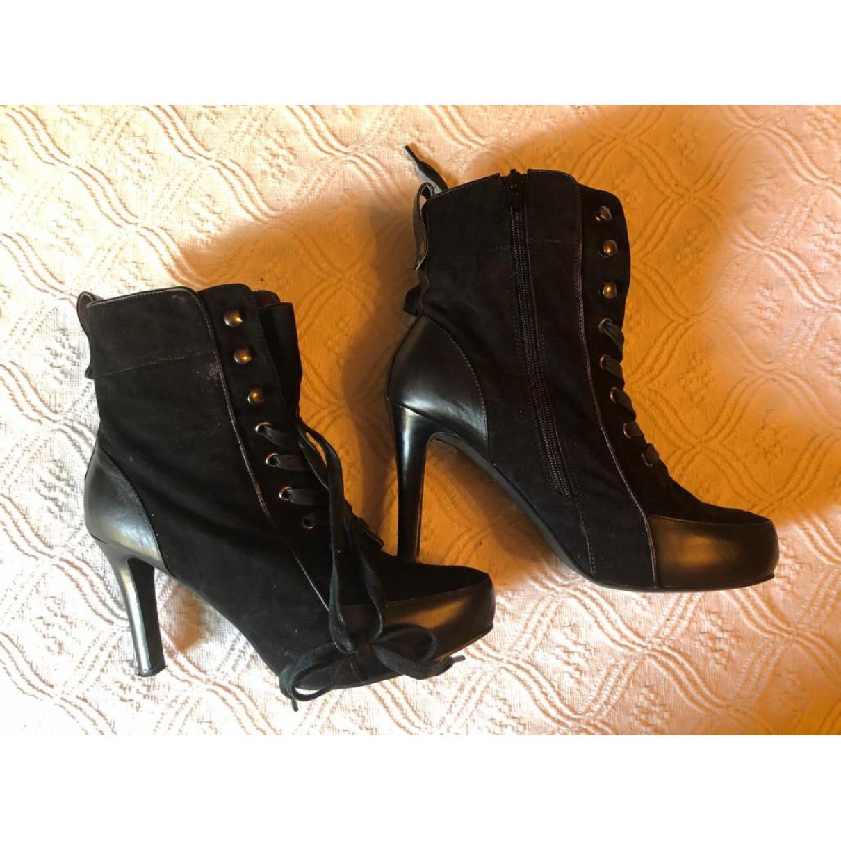 Bimba Y Lola - Boots   pour femme en suede - noir