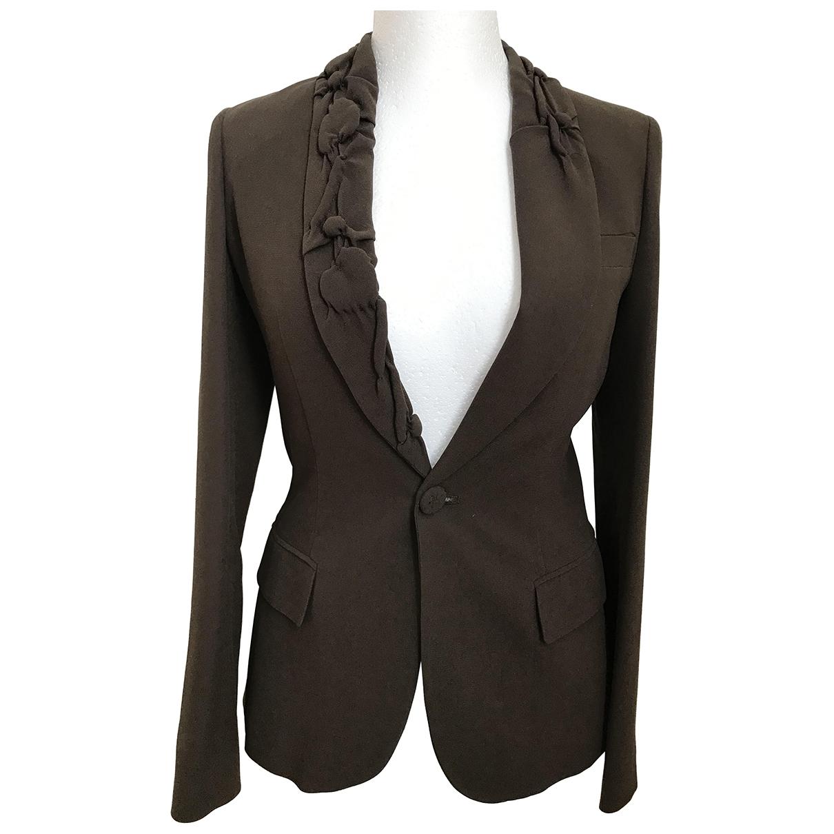 Jean Paul Gaultier \N Brown Silk jacket for Women 42 IT