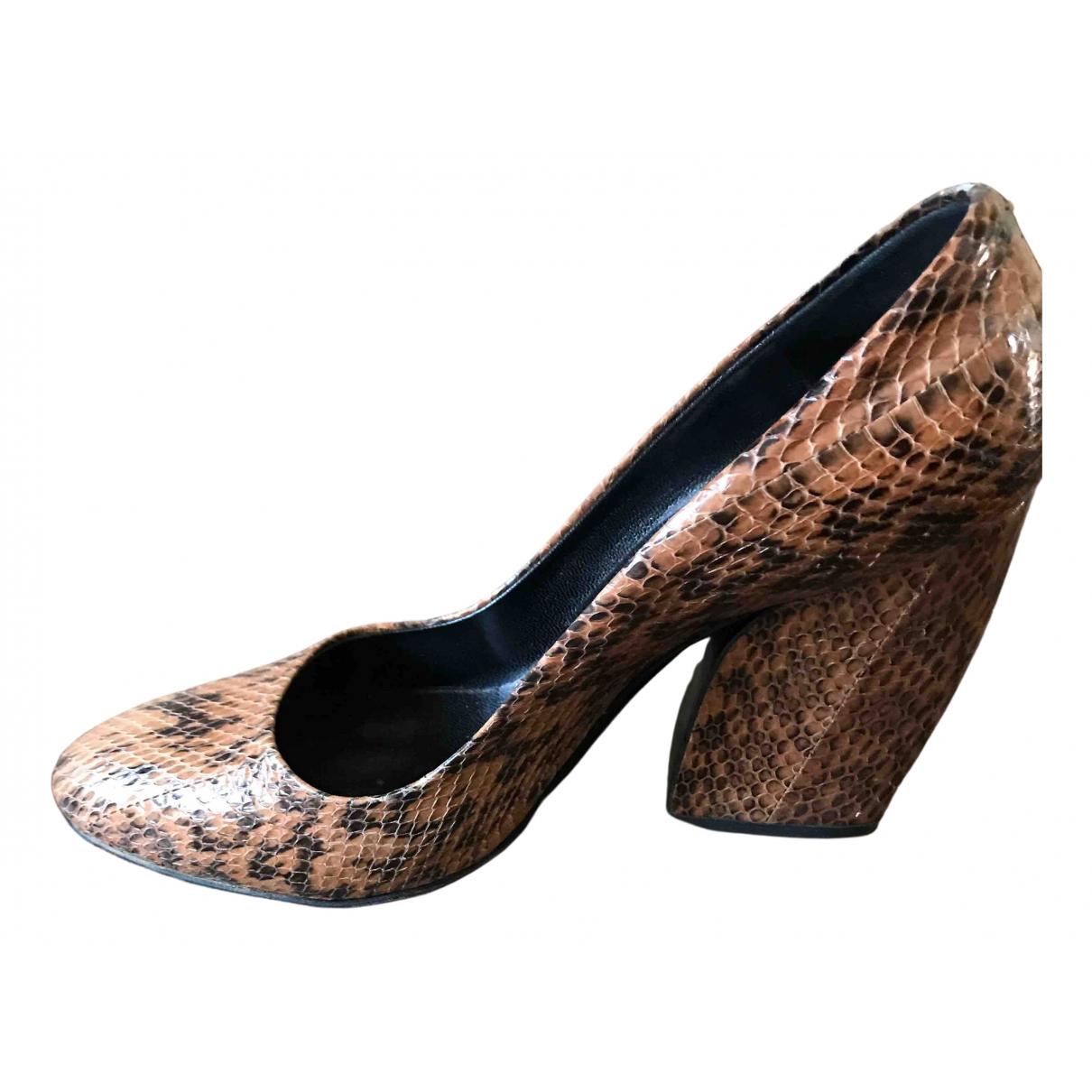 Pierre Hardy \N Beige Python Heels for Women 38 IT