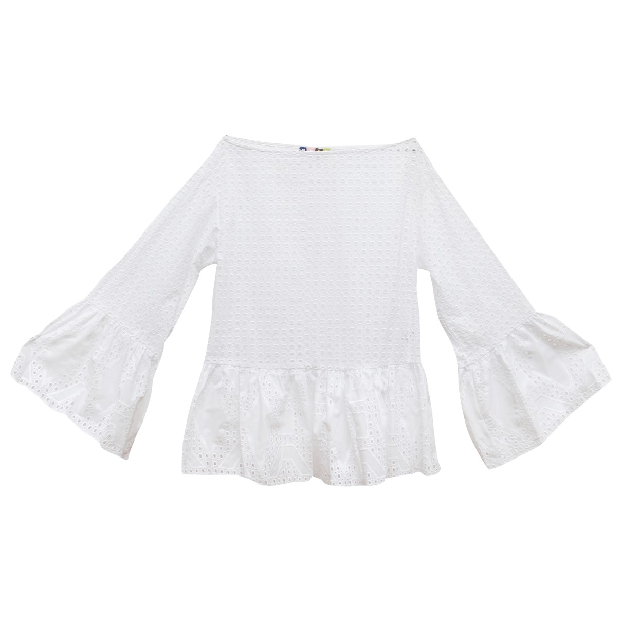 Msgm \N White Cotton  top for Women 40 IT