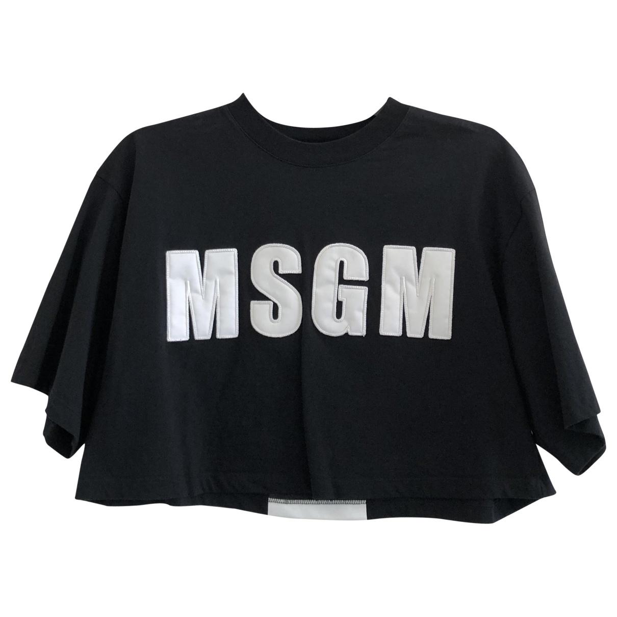 Msgm \N Top in  Schwarz Baumwolle