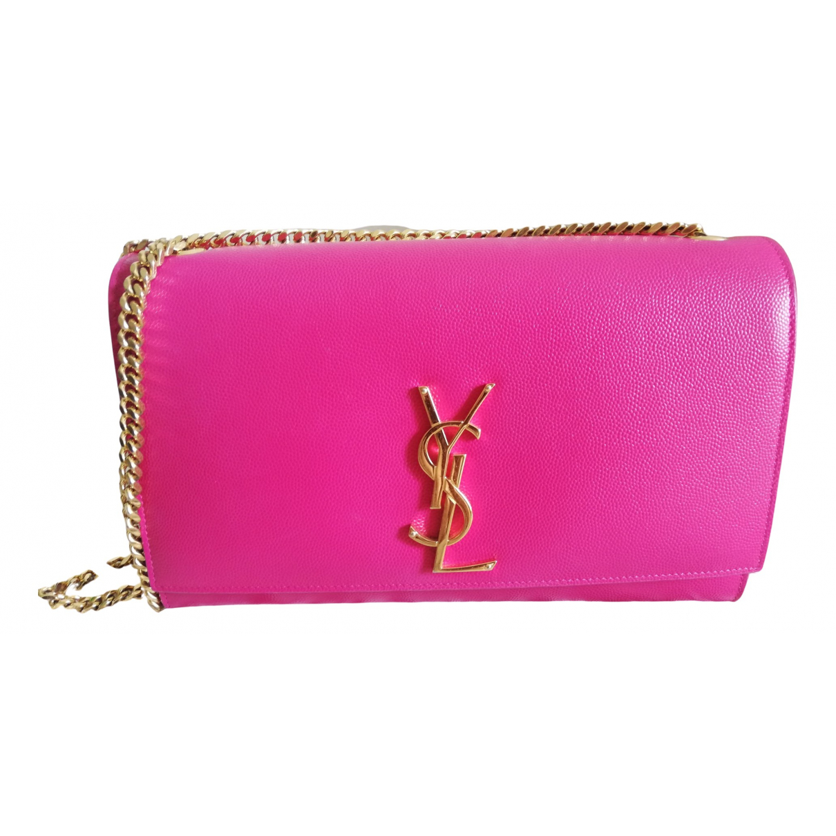 Saint Laurent Kate monogramme Handtasche in  Rosa Leder