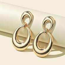 Ohrringe mit Wassertropfen Dekor