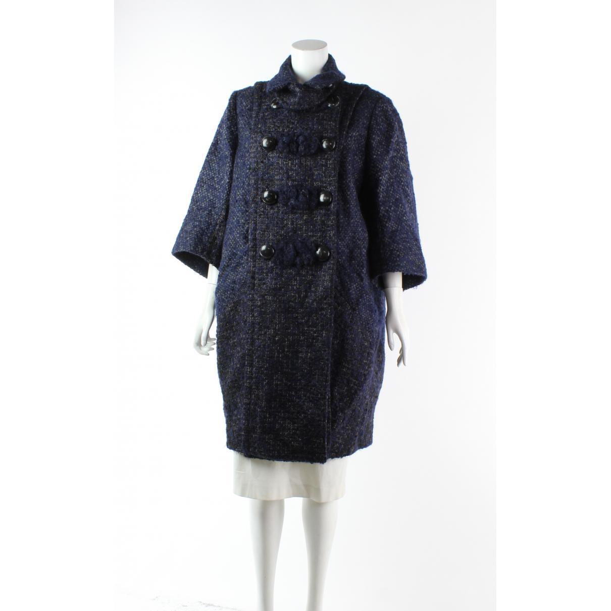 Louis Vuitton N Blue Wool coat for Women 42 FR