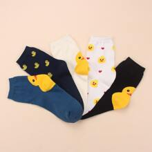 5pairs Duck Pattern Socks