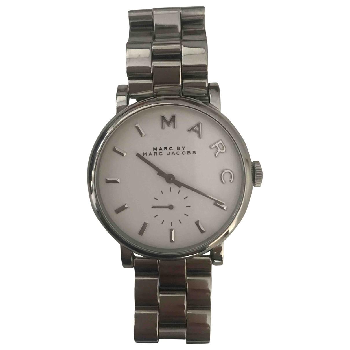 Marc By Marc Jacobs \N White Steel watch for Women \N