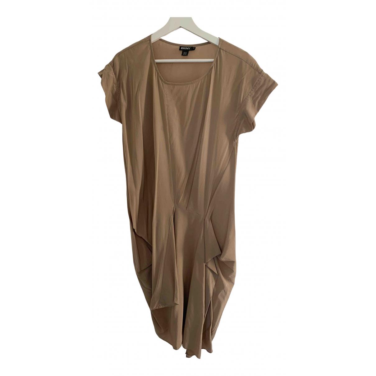 Dkny - Top   pour femme en soie - camel