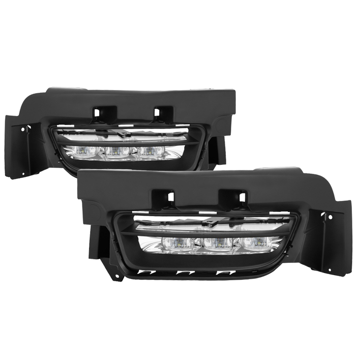 Spyder Auto FL-DCH2015-LED-C OEM LED Fog Lights W/Universal Switch- Clear Dodge Charger 2015-2021