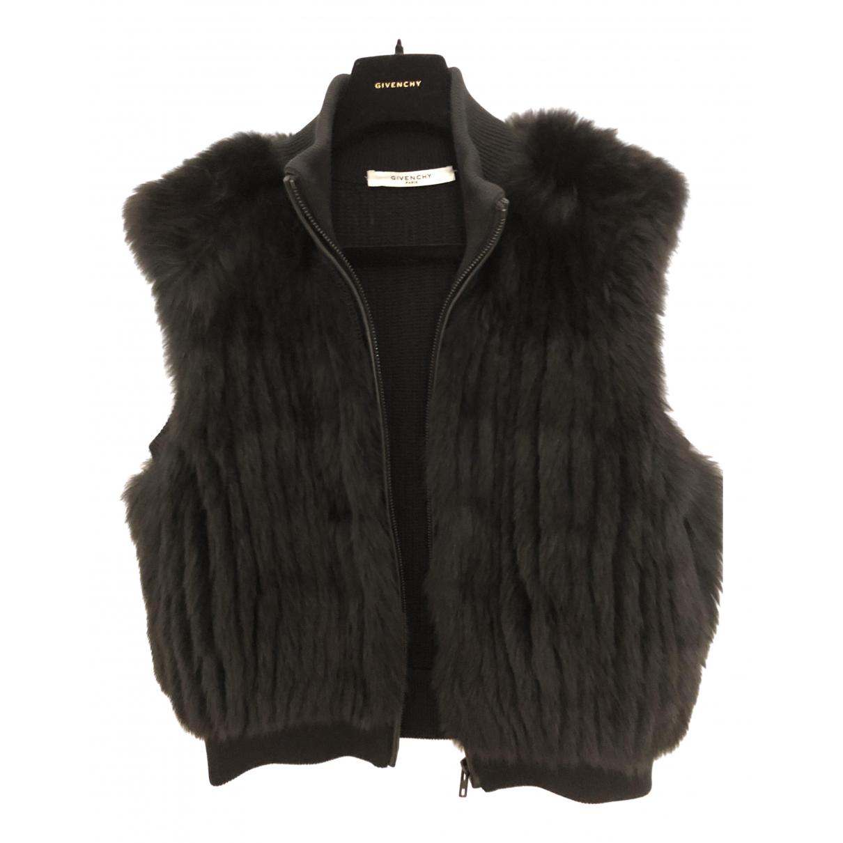 Givenchy \N Jacke in  Schwarz Fuchs