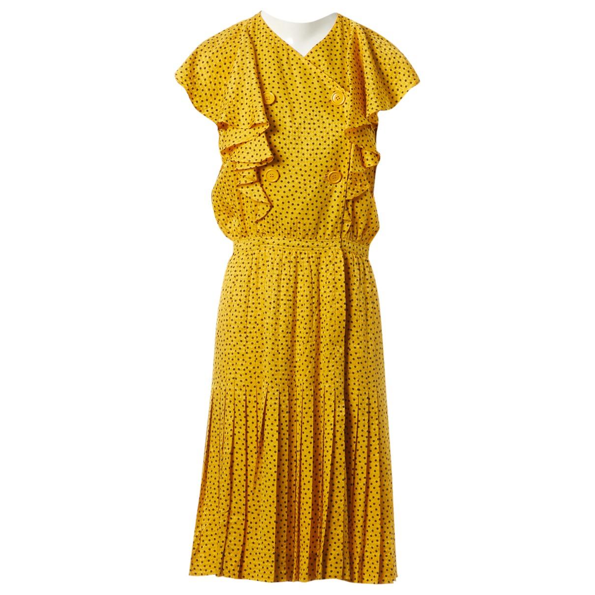 Valentino Garavani \N Kleid in  Gold Seide
