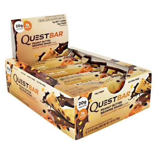 Quest Protein Bar Peanut Butter Brownie Smash 12 Count by Quest Nutrition