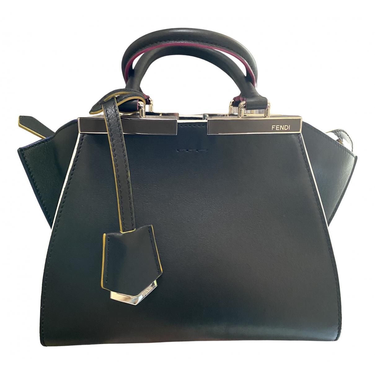 Fendi 3Jours Handtasche in  Schwarz Leder
