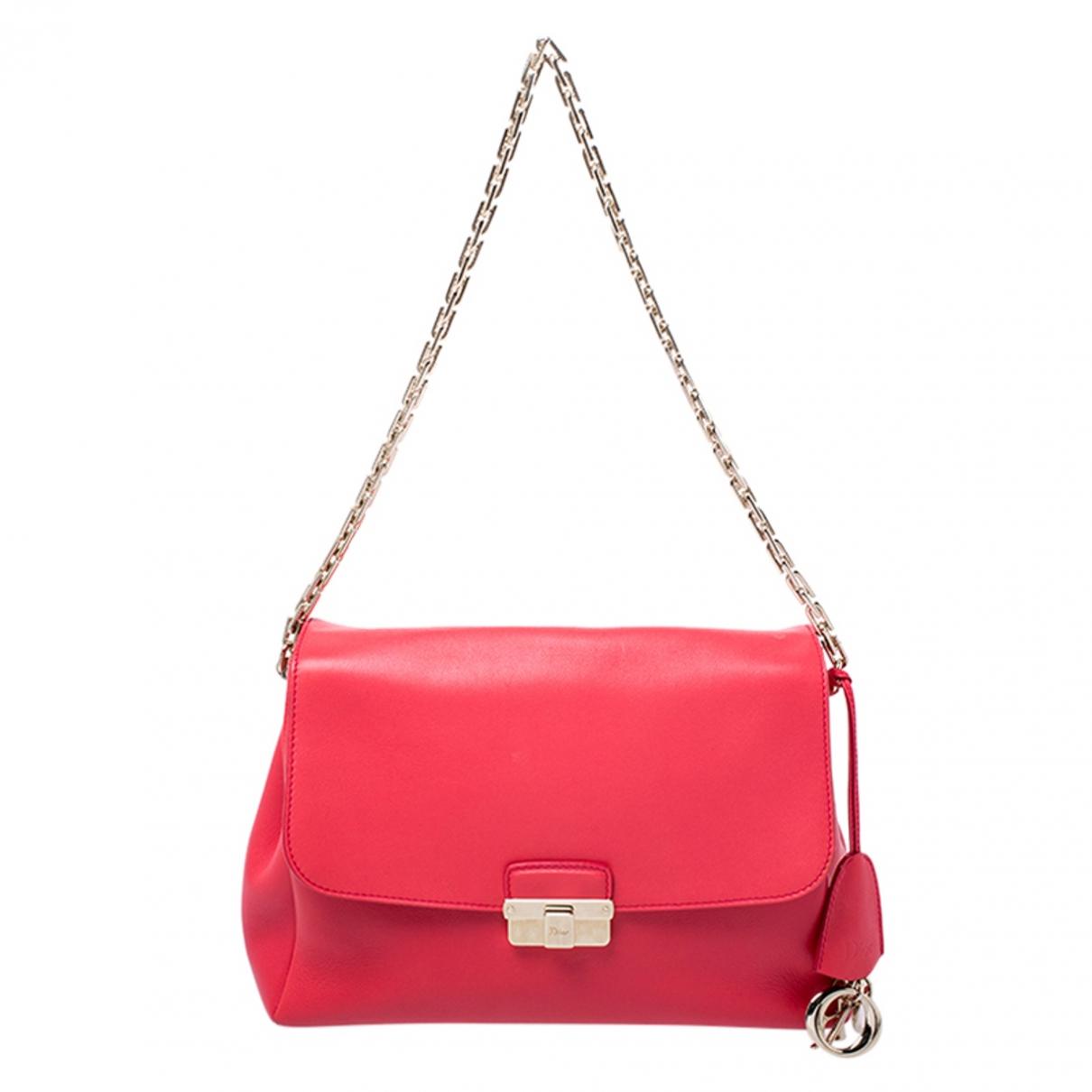 Dior Diorling Handtasche in  Rot Leder