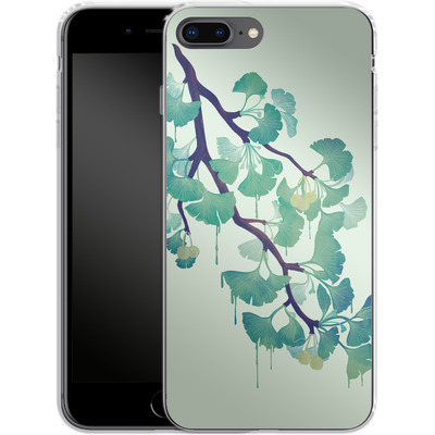 Apple iPhone 8 Plus Silikon Handyhuelle - Ginko Green von Little Clyde