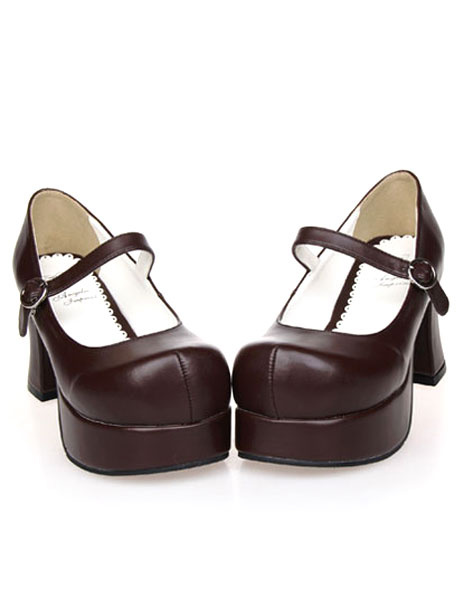 Milanoo Zapatos de lolita de color liso