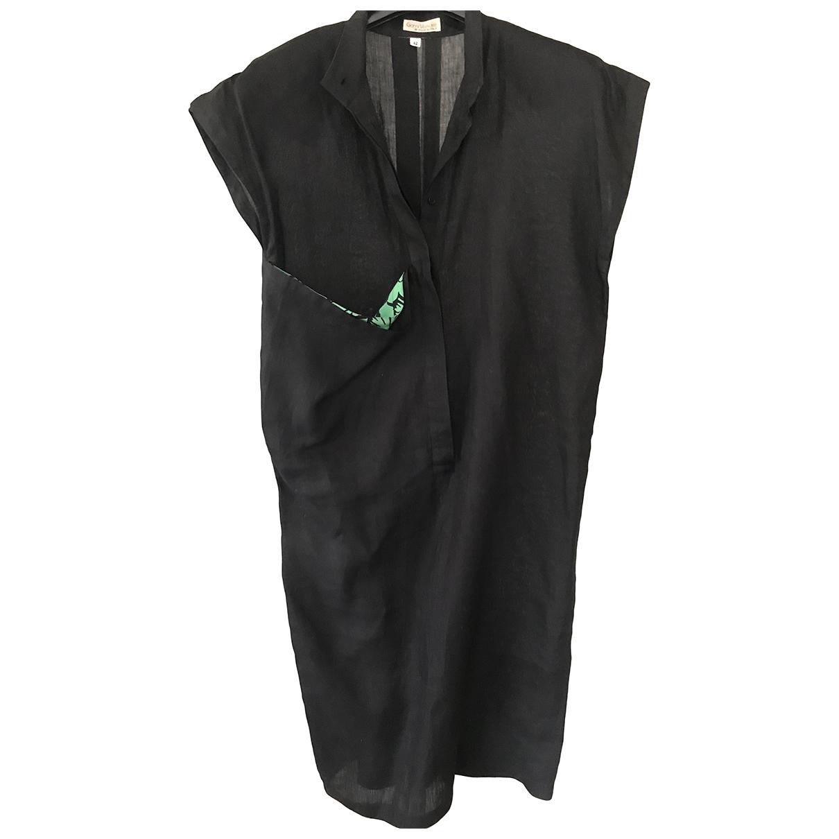 Gianni Versace - Robe   pour femme en lin - noir