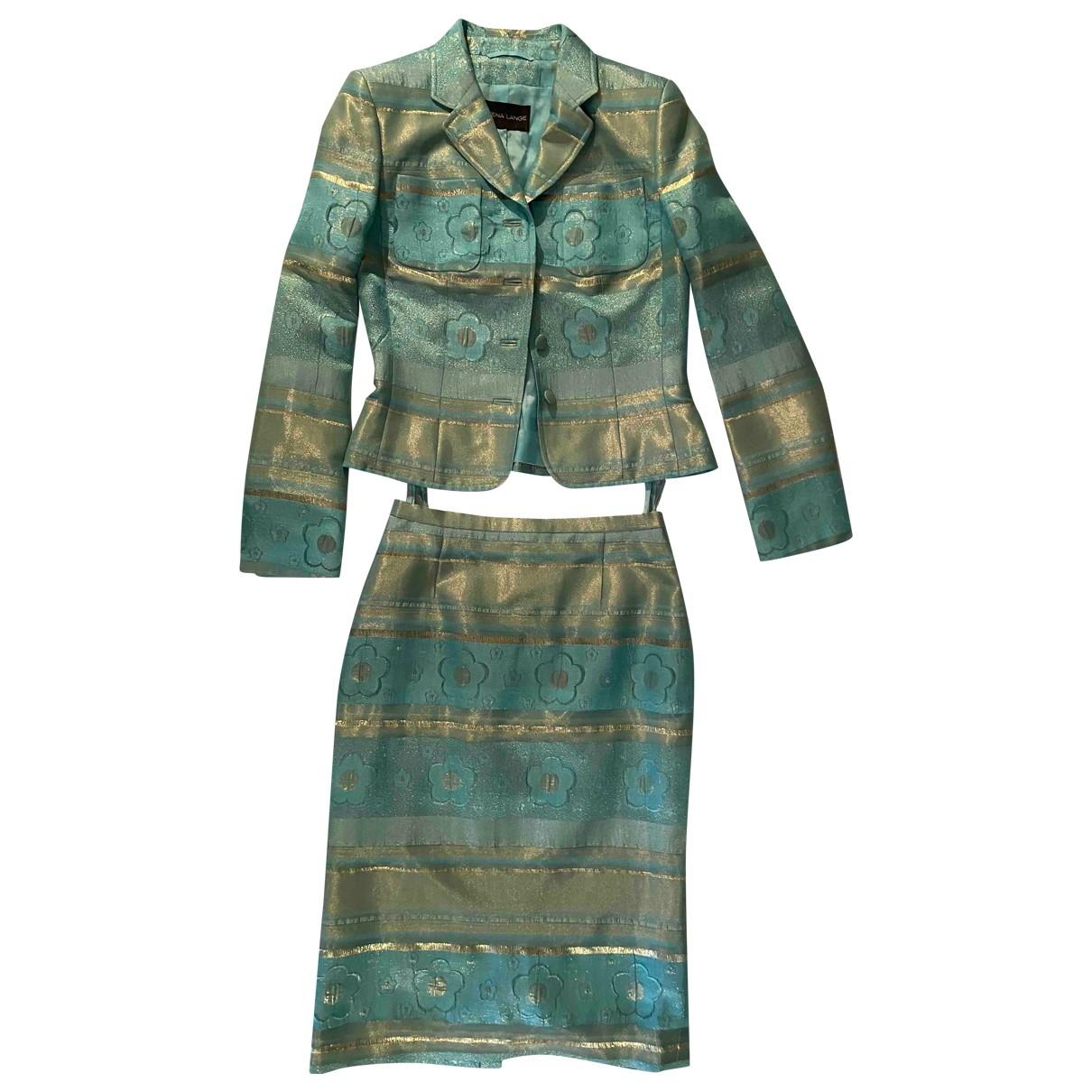 Rena Lange - Jupe   pour femme en soie - turquoise