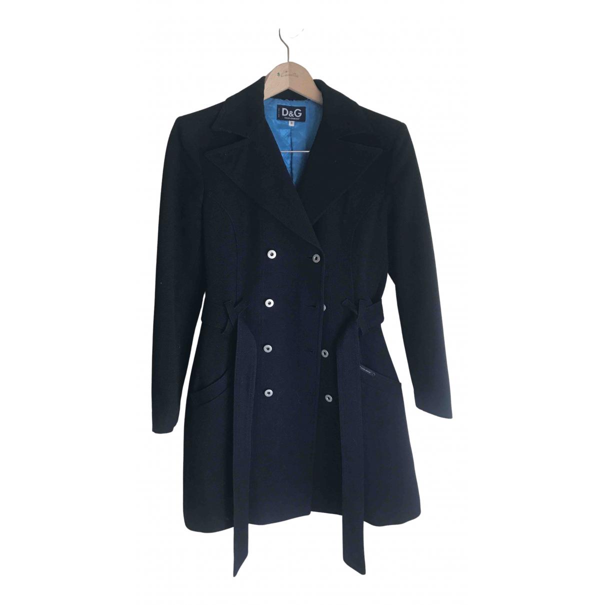 D&g N Black Wool coat for Women S International