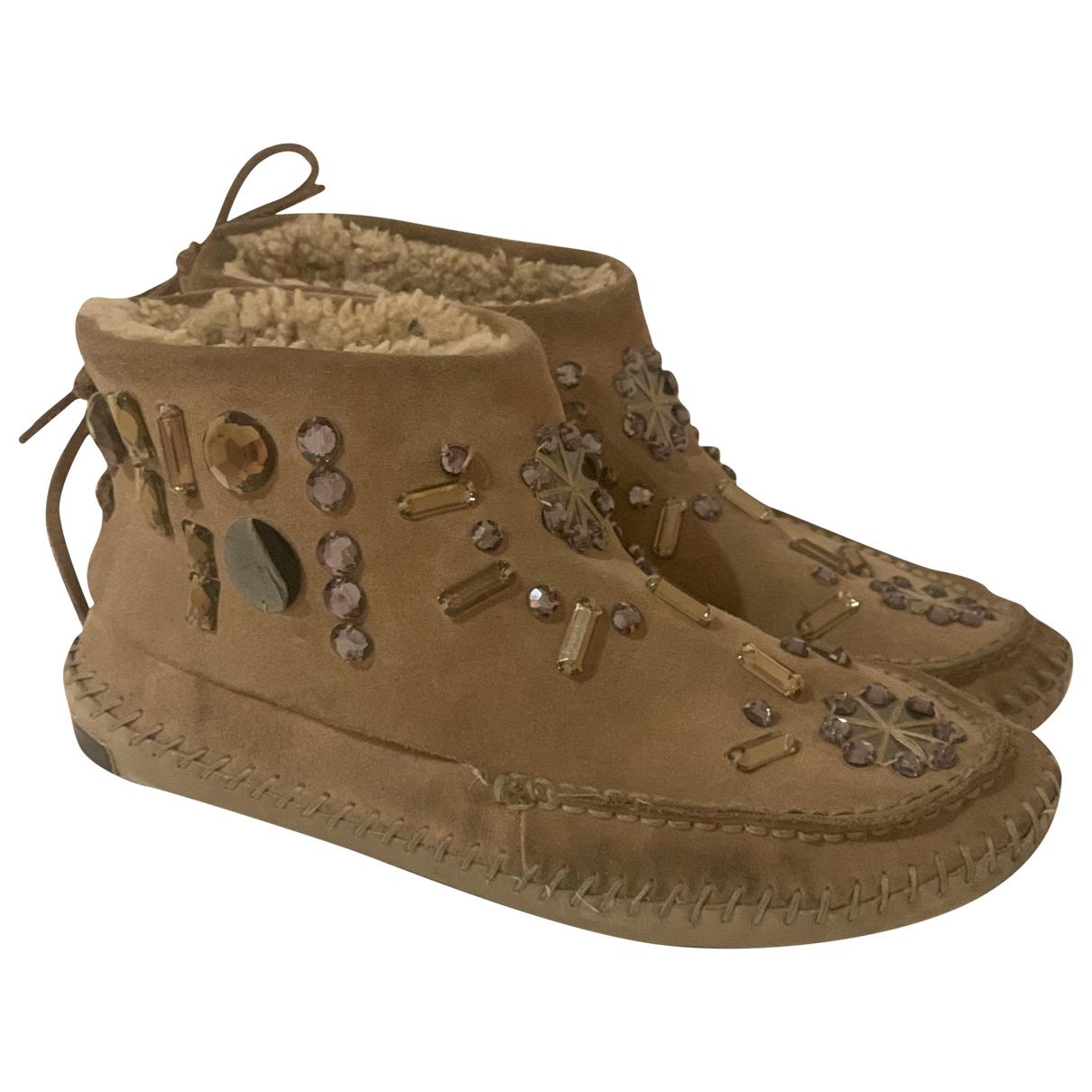 Tory Burch \N Beige Suede Boots for Women 40 EU