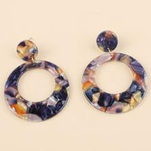 Acetate Round Drop Earrings
