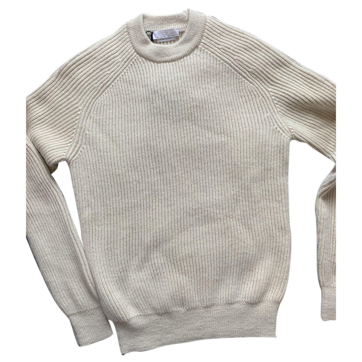 Prada \N Pullover.Westen.Sweatshirts  in  Ecru Wolle