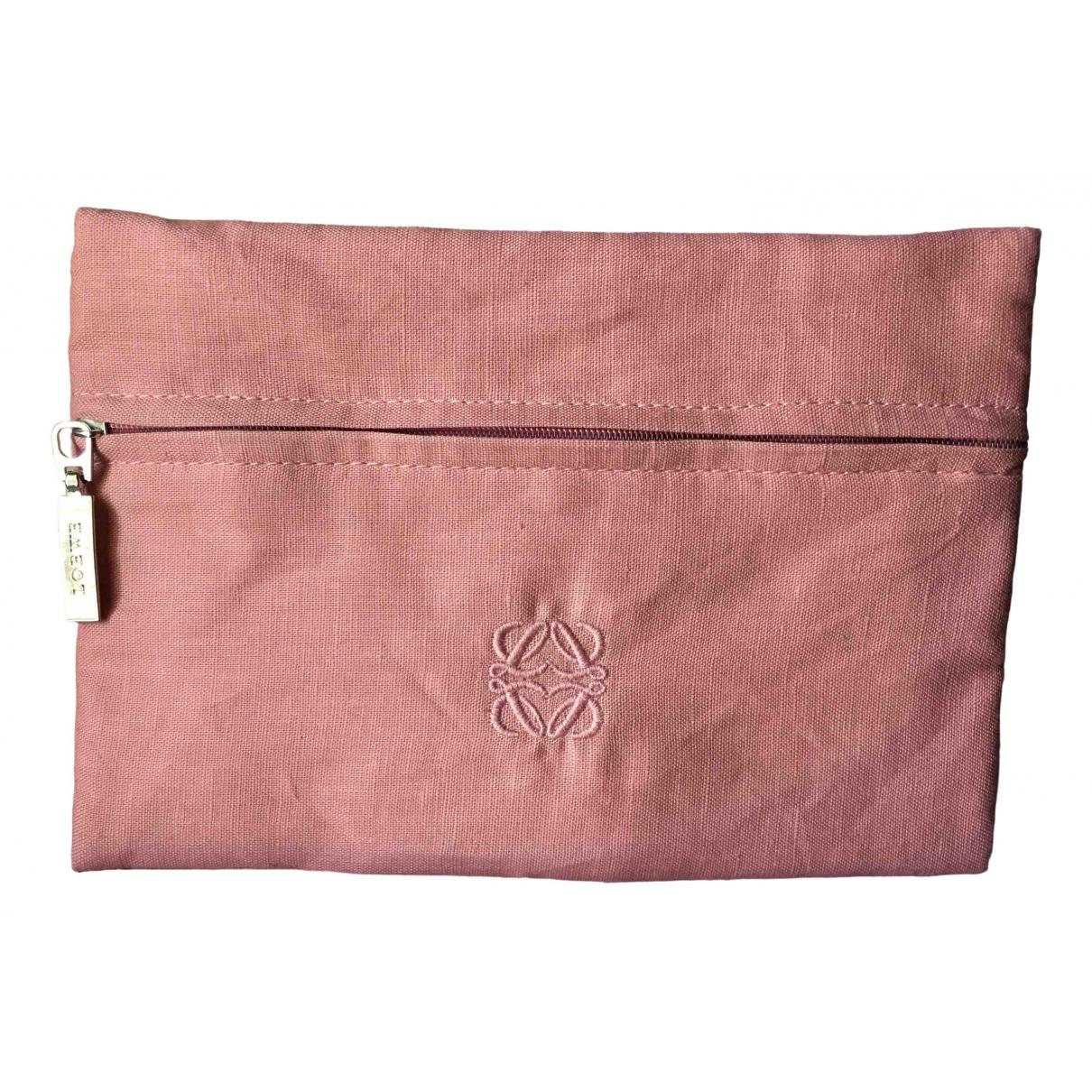 Loewe - Sac de voyage   pour femme en toile - rose