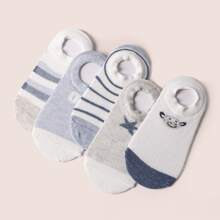 5 pares calcetines de rayas