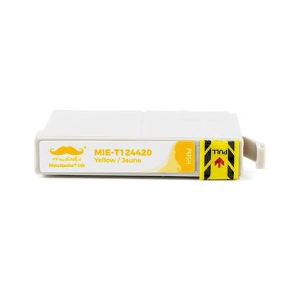 Epson 124 T124420 cartouche d'encre compatible jaune - Moustache�
