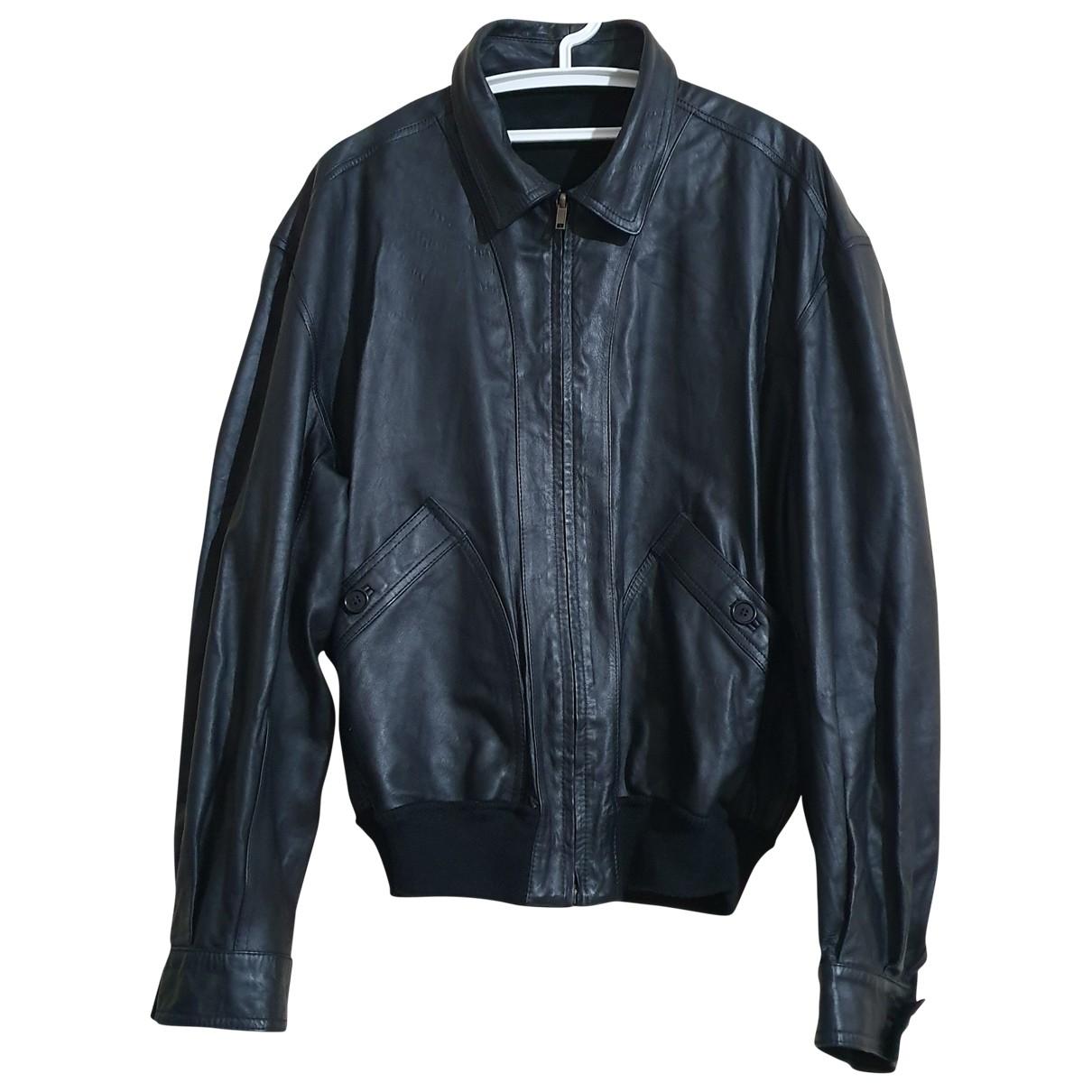 Bally \N Black Leather jacket  for Men L International