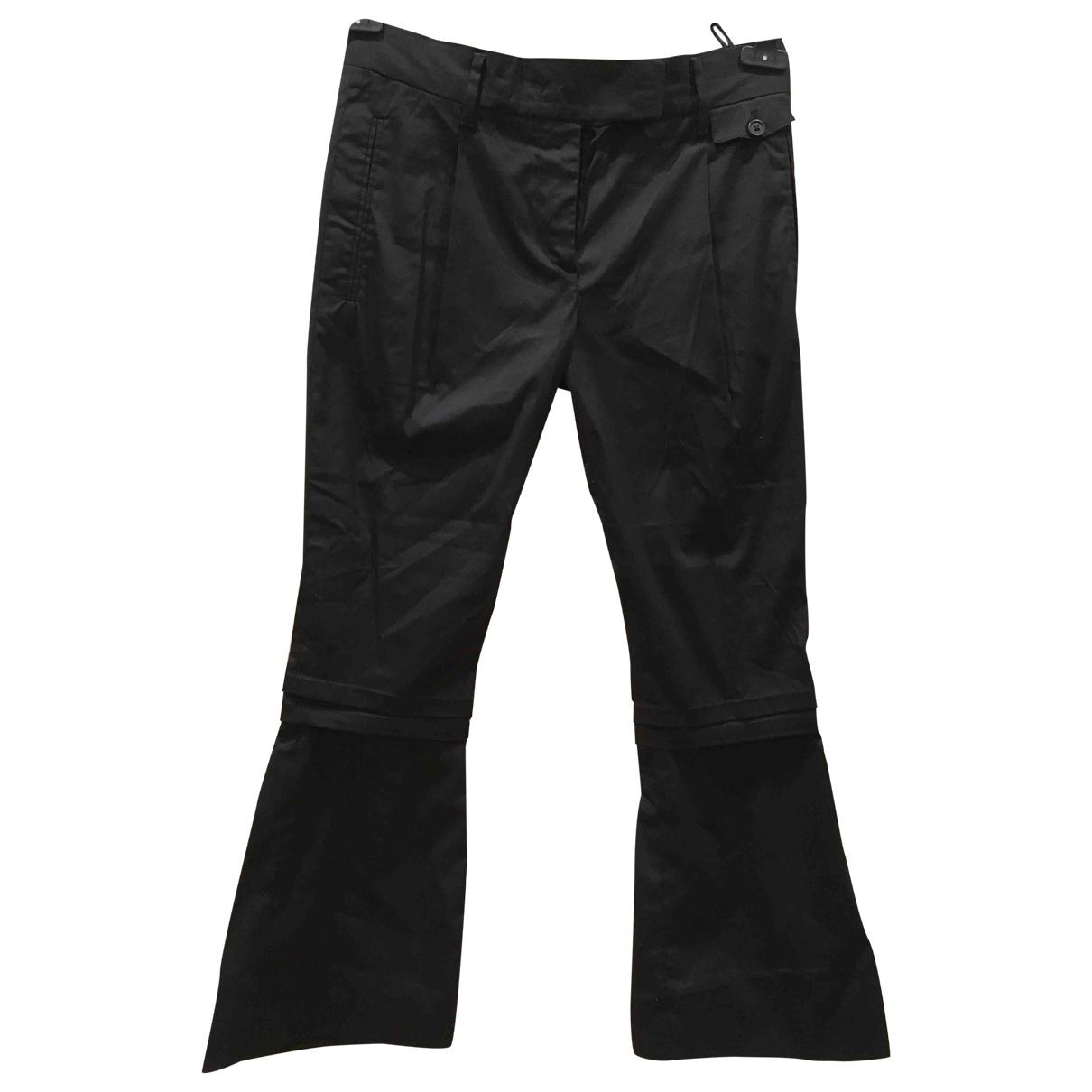 Prada \N Black Cotton Trousers for Women 38 IT