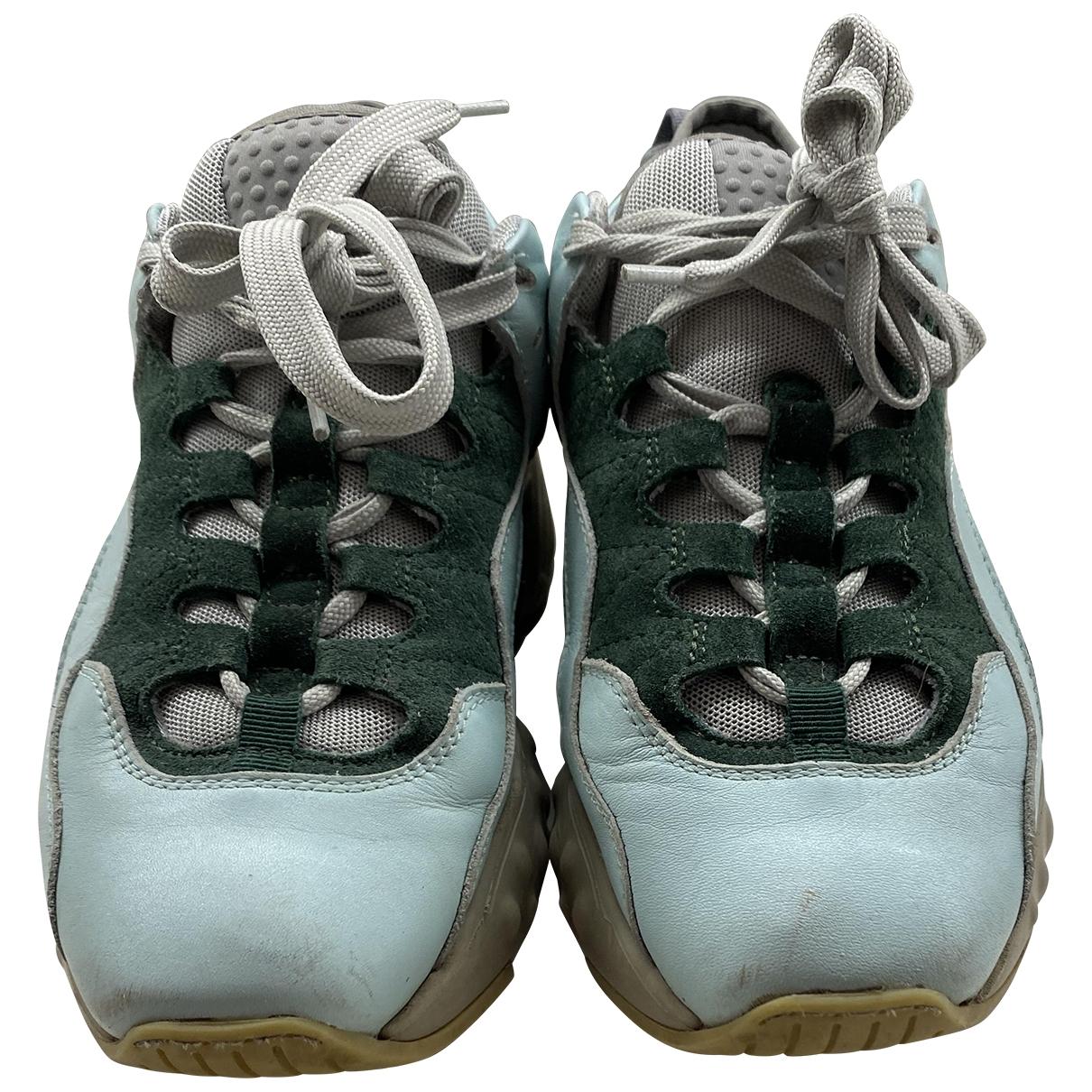 Acne Studios Manhattan Sneakers in  Gruen Leder