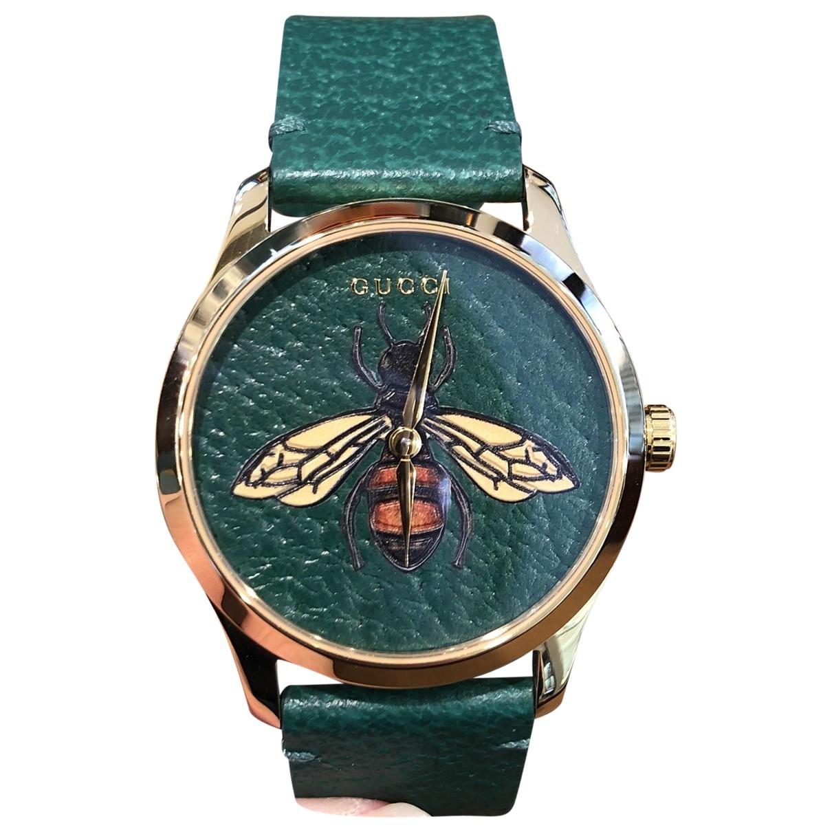 Gucci - Montre Le Marche des Merveilles pour homme en acier - vert