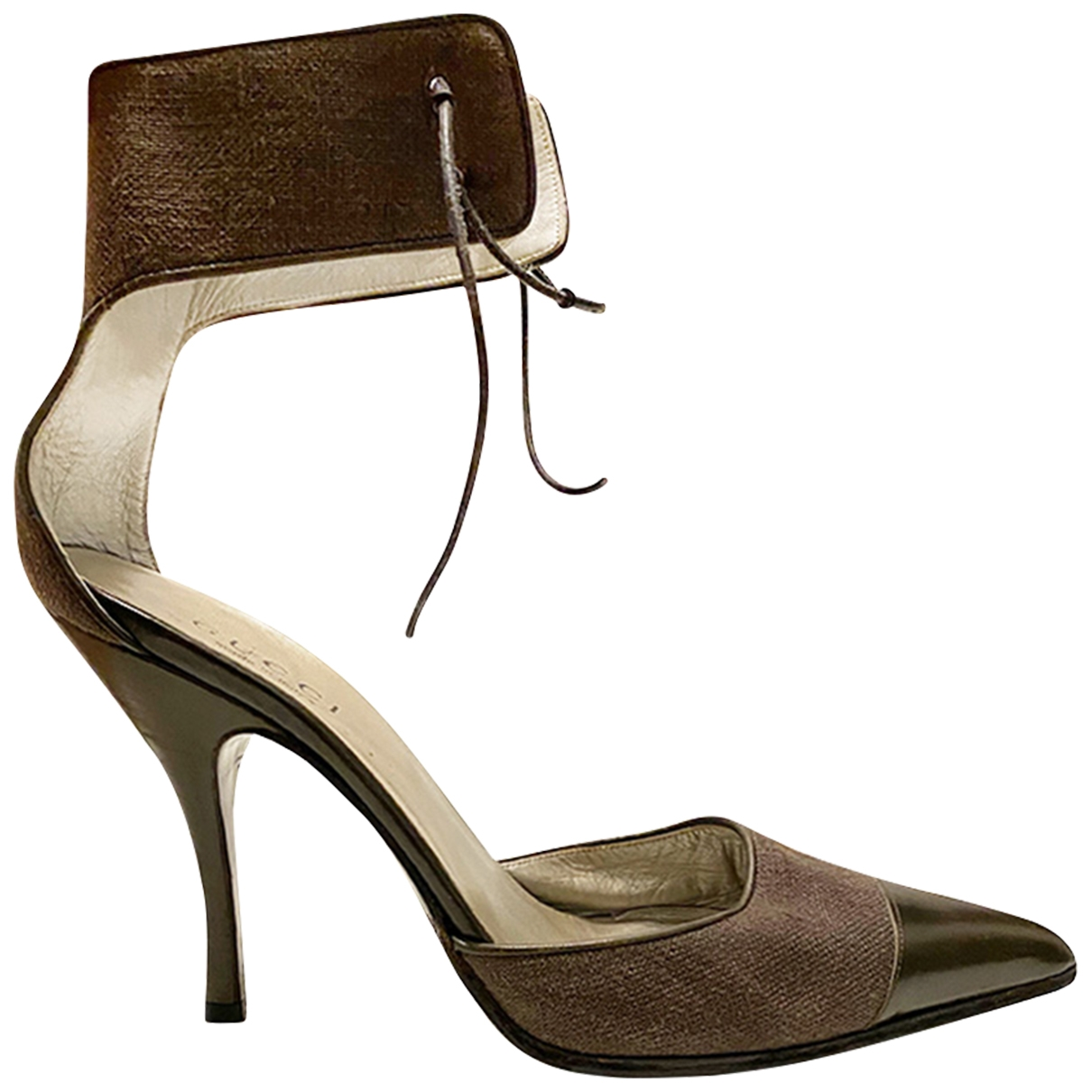 Gucci - Sandales   pour femme en toile - kaki