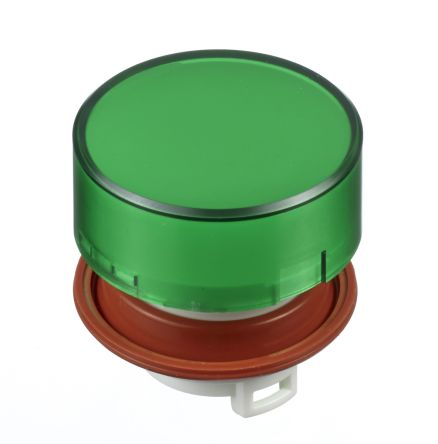 Idec Extended Green Push Button Head, HW Series, 22mm Cutout, Round
