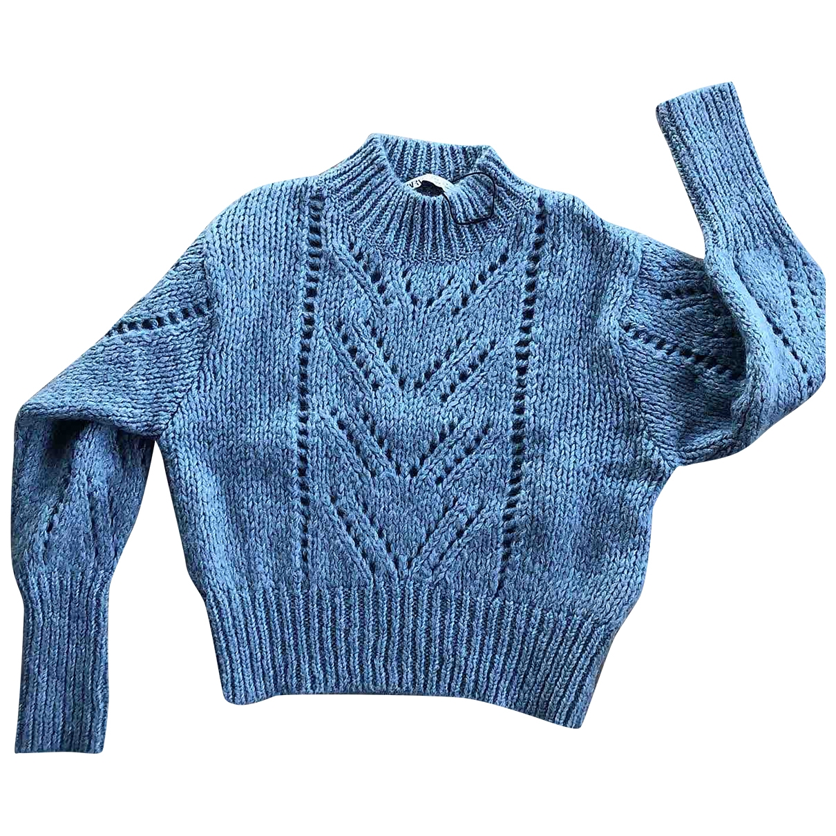 Zara \N Blue Wool Knitwear for Women 38 FR