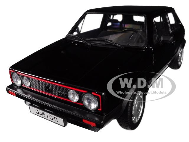 Volkswagen Golf 1 GTI Black 1/18 Diecast Model Car by Welly