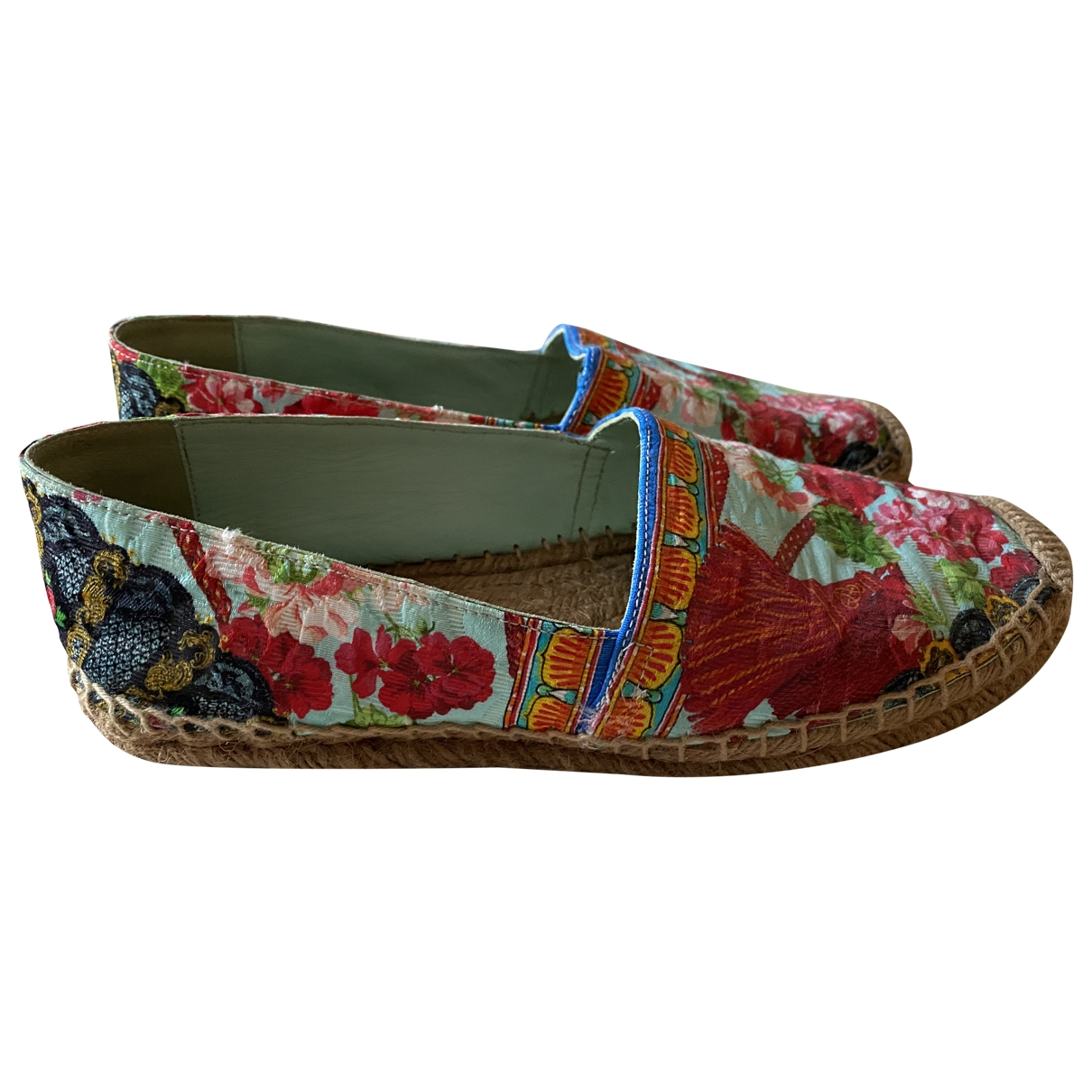 Dolce & Gabbana - Espadrilles   pour femme en toile - multicolore