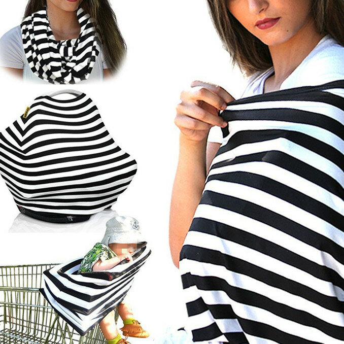 Multifunctional Breast Feeding Nursing Scarf Baby Shopping Cart Cover Carseat Cover Nursing Cover