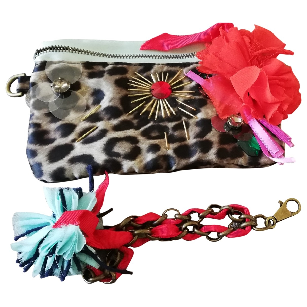 Lanvin For H&m \N Clutch in  Bunt Polyester