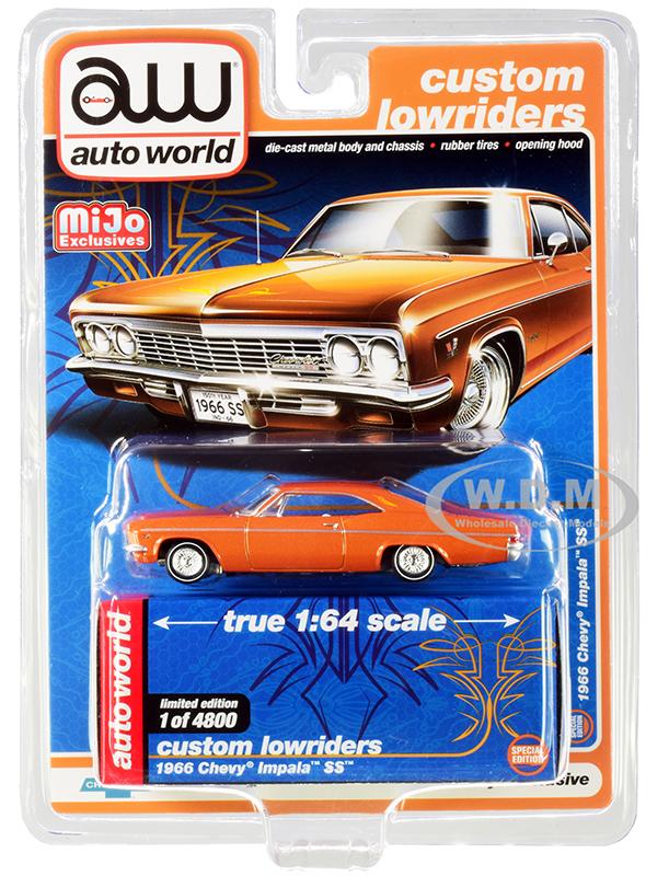 1966 Chevrolet Impala SS Orange Metallic with White Interior