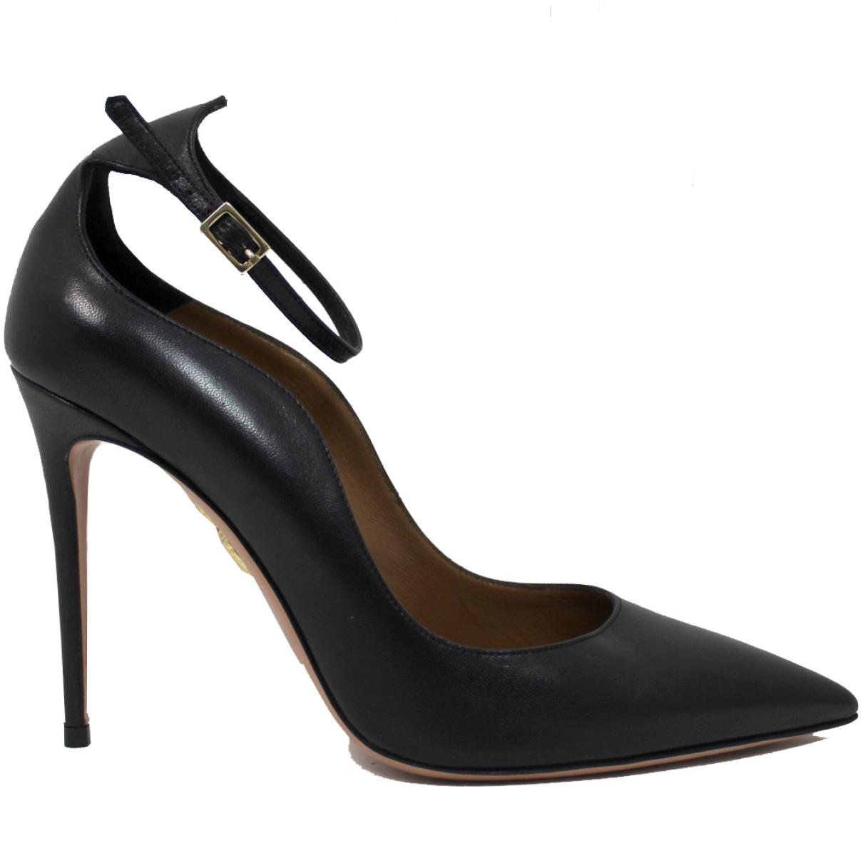 Aquazzura - Escarpins   pour femme en cuir - noir